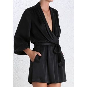 7bce1fa2a2a9 Zimmermann Other - Zimmermann Sueded Silk Wrap Playsuit